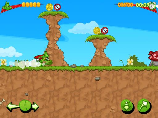 Игра Superfrog HD для планшетов на Android