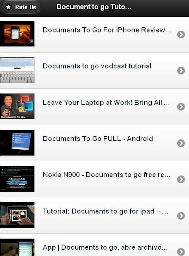 Documents To Go Tutorials