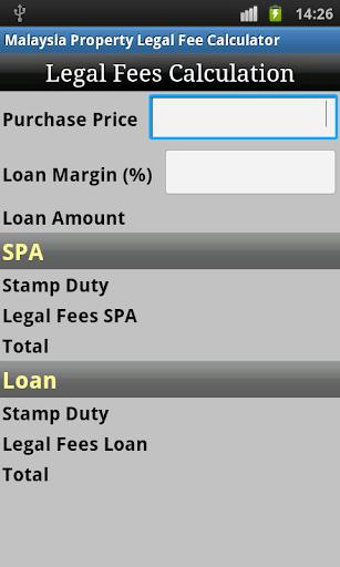 Malaysia Property Legal Fee