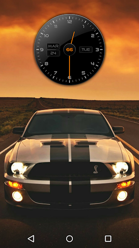 Racer Clock Zooper Widget