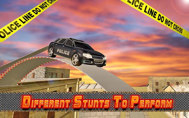 Police Roof Car Jump & Stunts - screenshot