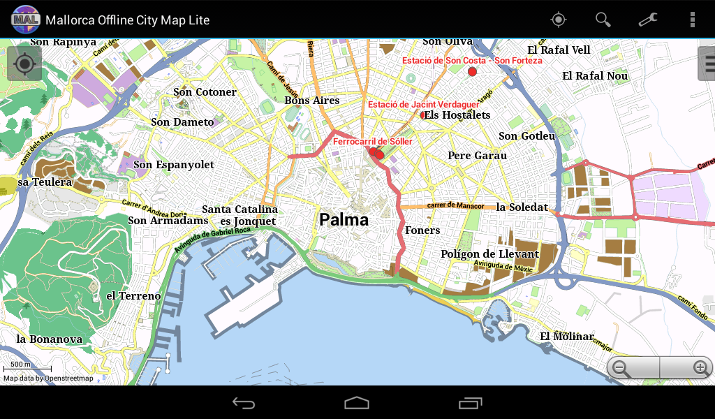 majorca offline city map android apps on google play. Black Bedroom Furniture Sets. Home Design Ideas