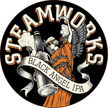 Logo of Steamworks Black Angel IPA