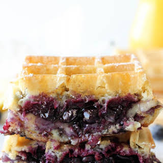 Brie and Blueberry Waffle Grilled Cheese.