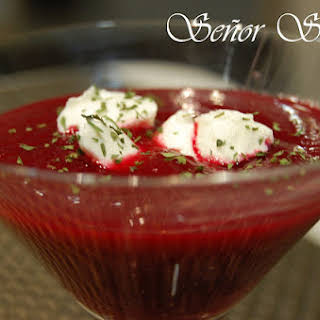 Cold Cream of Beet Soup.