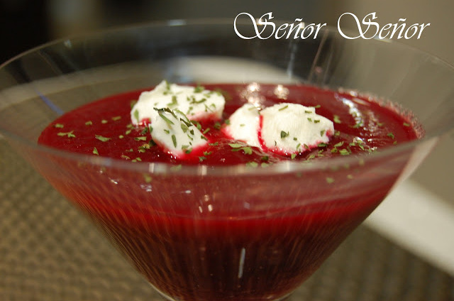 Cold Cream of Beet Soup