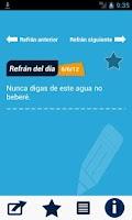 Screenshot of El Refrán del Día