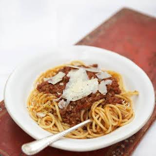 Spaghetti Bolognese (Jamie Oliver).