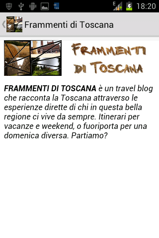 Frammenti di Toscana - Blog