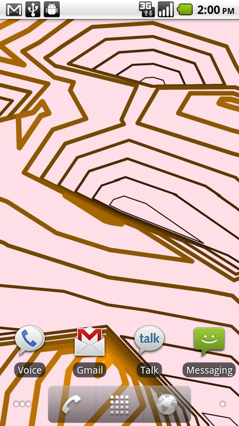 Retro Contours Live Wallpaper- screenshot