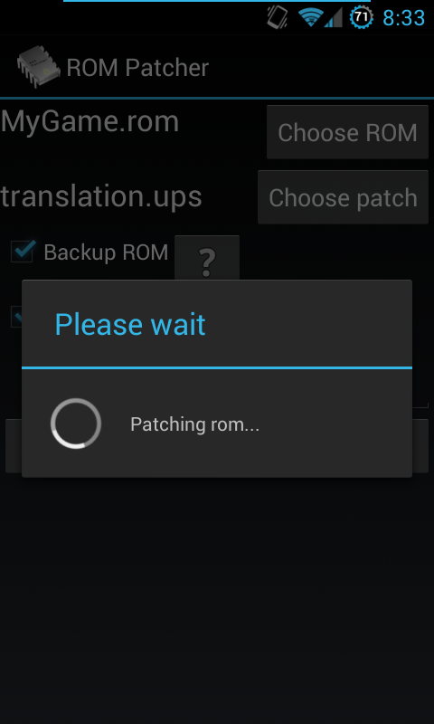 ROM Patcher- screenshot