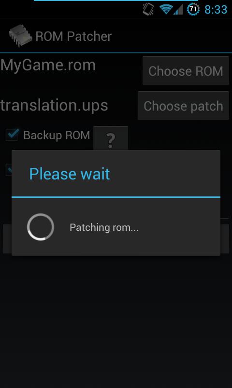 ROM Patcher - screenshot