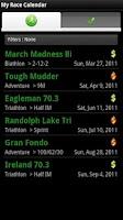 Screenshot of My Race Calendar