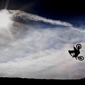 Sunshine Days for MoTo by Doug Redding - Sports & Fitness Motorsports ( motocross, manual exposure, dirt bike, whip, jump )