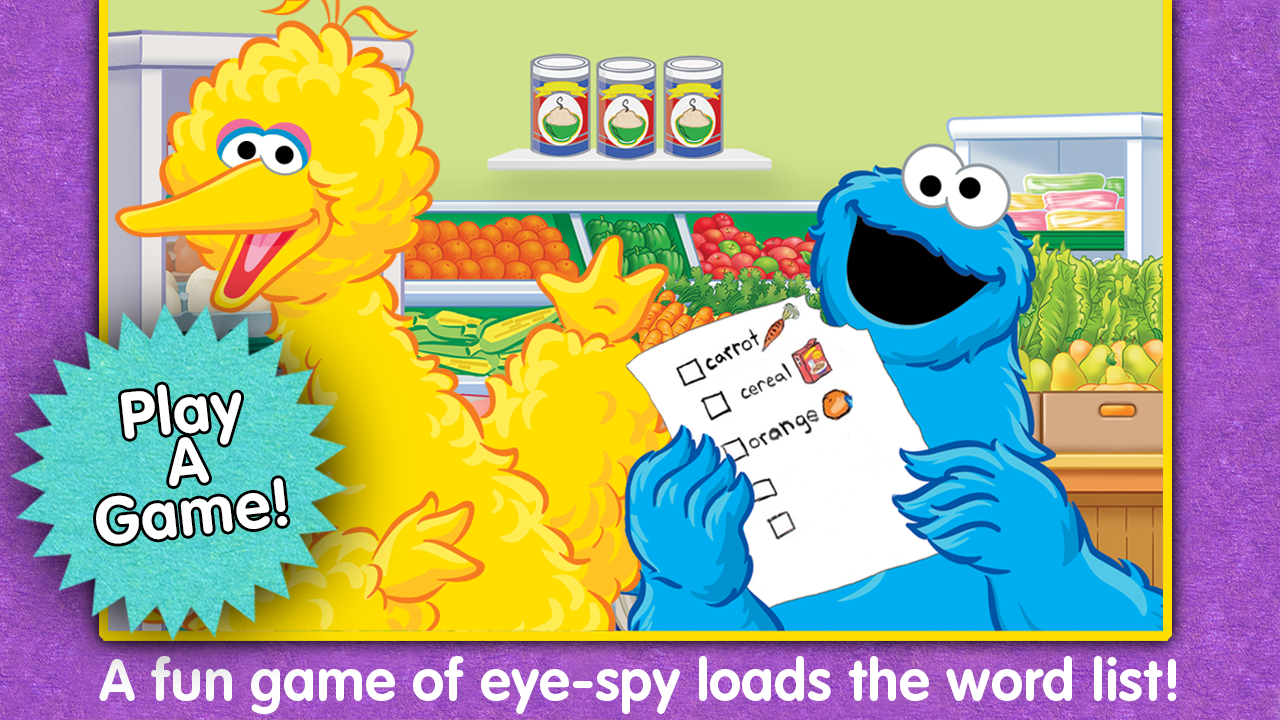 Sesame Street-Big Bird's Words - screenshot