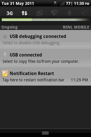 Notification Restart - screenshot