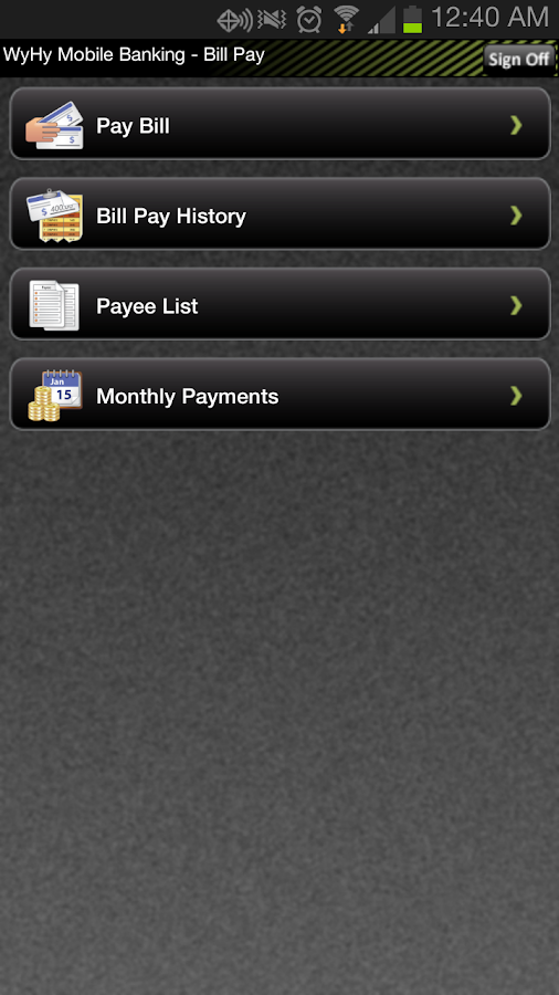 WyHy Mobile Banking - screenshot