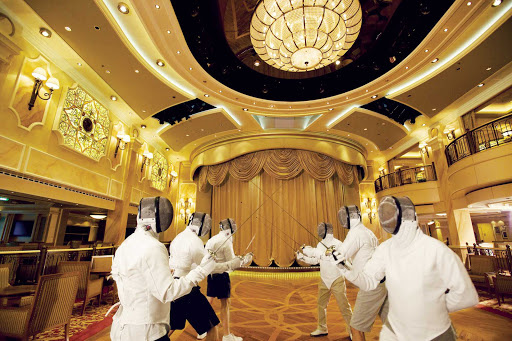 Joust much? You can if you sign up for a fencing class while cruising on Queen Victoria.