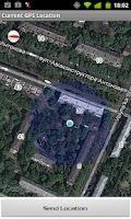 Screenshot of Current GPS Location