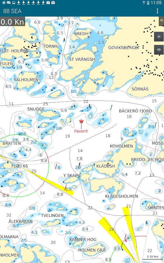 88 SEA - Sjökortsnavigator - screenshot