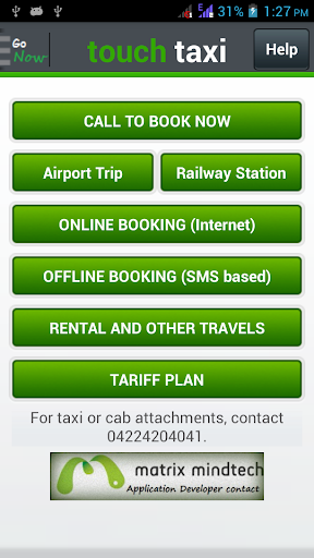 TouchTaxi - easy taxi booking