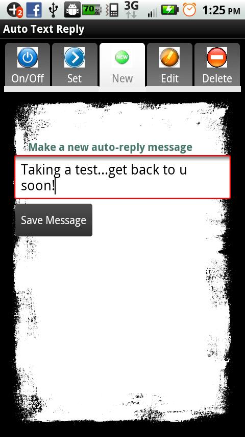 Auto Text Reply - screenshot