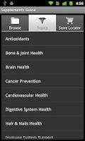 Screenshot of Supplements Guide