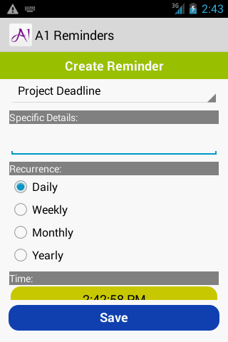 A1Reminders- screenshot