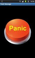 Screenshot of Panic Message