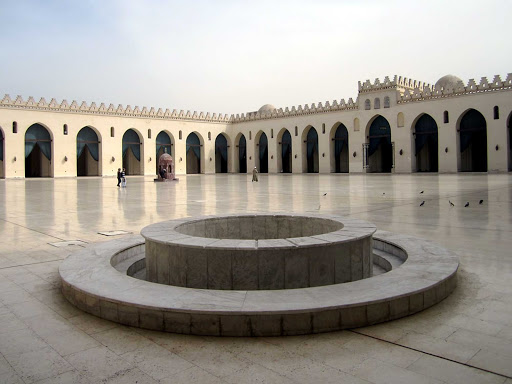 """The Mosque of Al-Hakim in Cairo, Egypt, was erected in 1013 by an eccentric Fatumid ruler known as the """"Little Lizard."""""""
