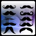 Funny Mustache Face free icon