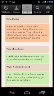 SIGN Asthma Patient Guide - screenshot thumbnail