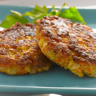 Low-Fat Cauliflower Carrot Latkes.