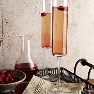 Cranberry Kir Royale.