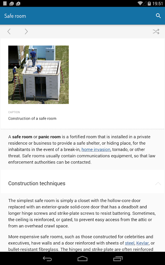 Minipedia Offline Wikipedia- screenshot