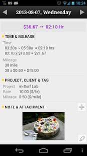 Time tracker, TimePunch Pro - screenshot thumbnail