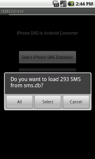 iSMS2droid (iPhone SMS Import) - screenshot thumbnail