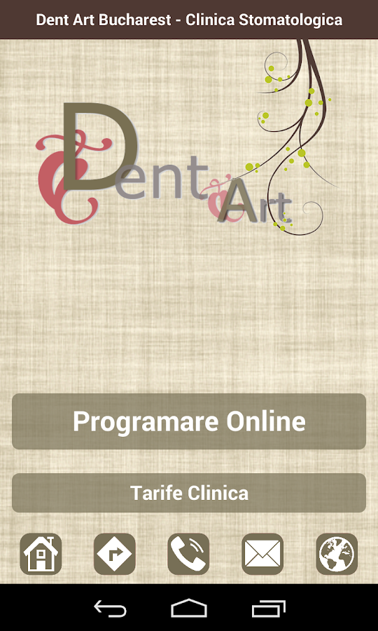 Dent Art Bucharest– captură de ecran
