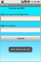 Screenshot of BMI Calc