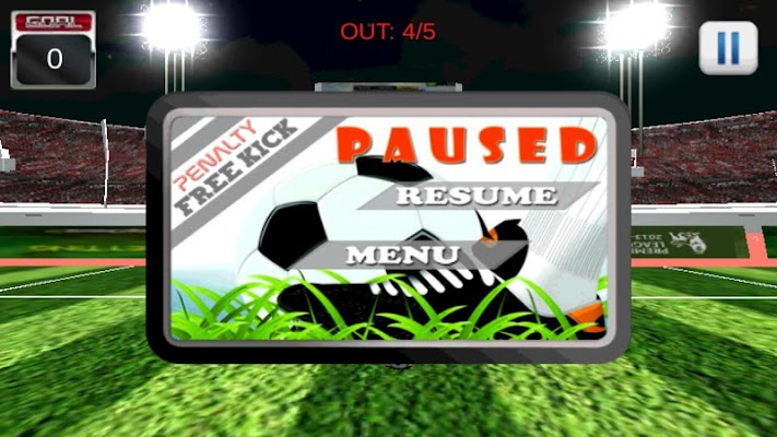 3D Penalty shot free football - screenshot