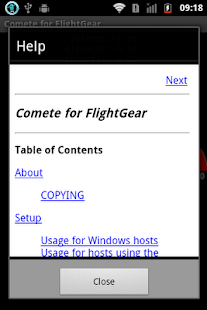 Comete for FlightGear (Beta) - screenshot thumbnail
