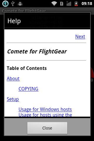 Comete for FlightGear (Beta) - screenshot