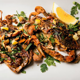 Soft-Shell Crab With Preserved Lemon and Almonds