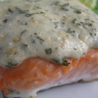 Asiago Baked Salmon.
