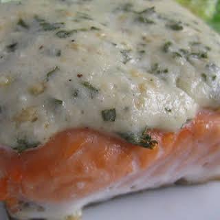 Asiago Baked Salmon.
