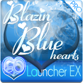 Blazin' Blue GO Launcher Theme
