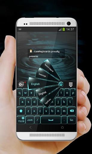 黑色和藍色 GO Keyboard