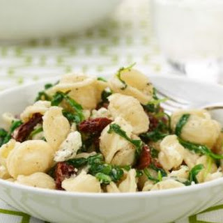Orecchiette with Mixed Greens and Goat's Cheese.