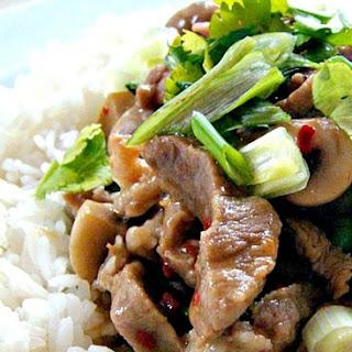 Chinese Quick Pork and Mushroom Stir Fry