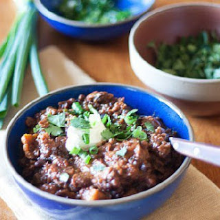 Black Bean, Sweet Potato and Quinoa Chili.